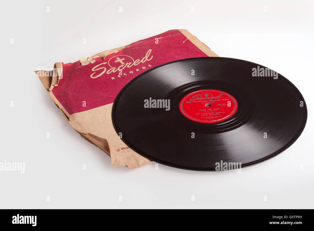 Sacred Old Fashioned Revival Hour 78 rpm record - Stock Image