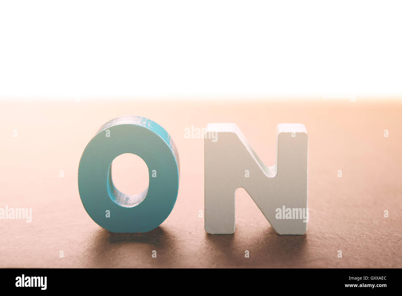 a series of wooden letters to form a word useful to use in blogs or websites Stock Photo