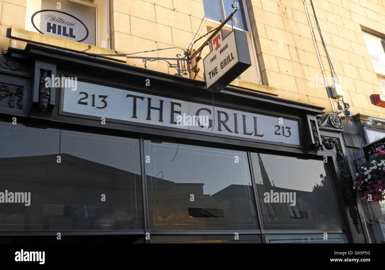 213 The Grill Real Ale Pub in Aberdeen, CAMRA and Orkney beers, Scotland, UK - Stock Image