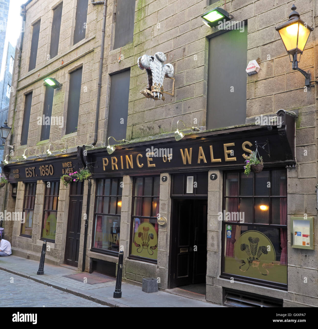 Prince of Wales,Real Ale Pub in Aberdeen, CAMRA and Orkney beers, Scotland, UK Stock Photo