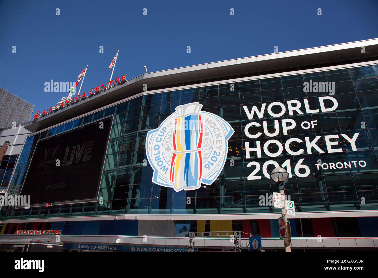 TORONTO - SEPTEMBER 15, 2016: The Air Canada Centre in Toronto is hosting the World Cup of Hockey 2016 tournament. - Stock Image