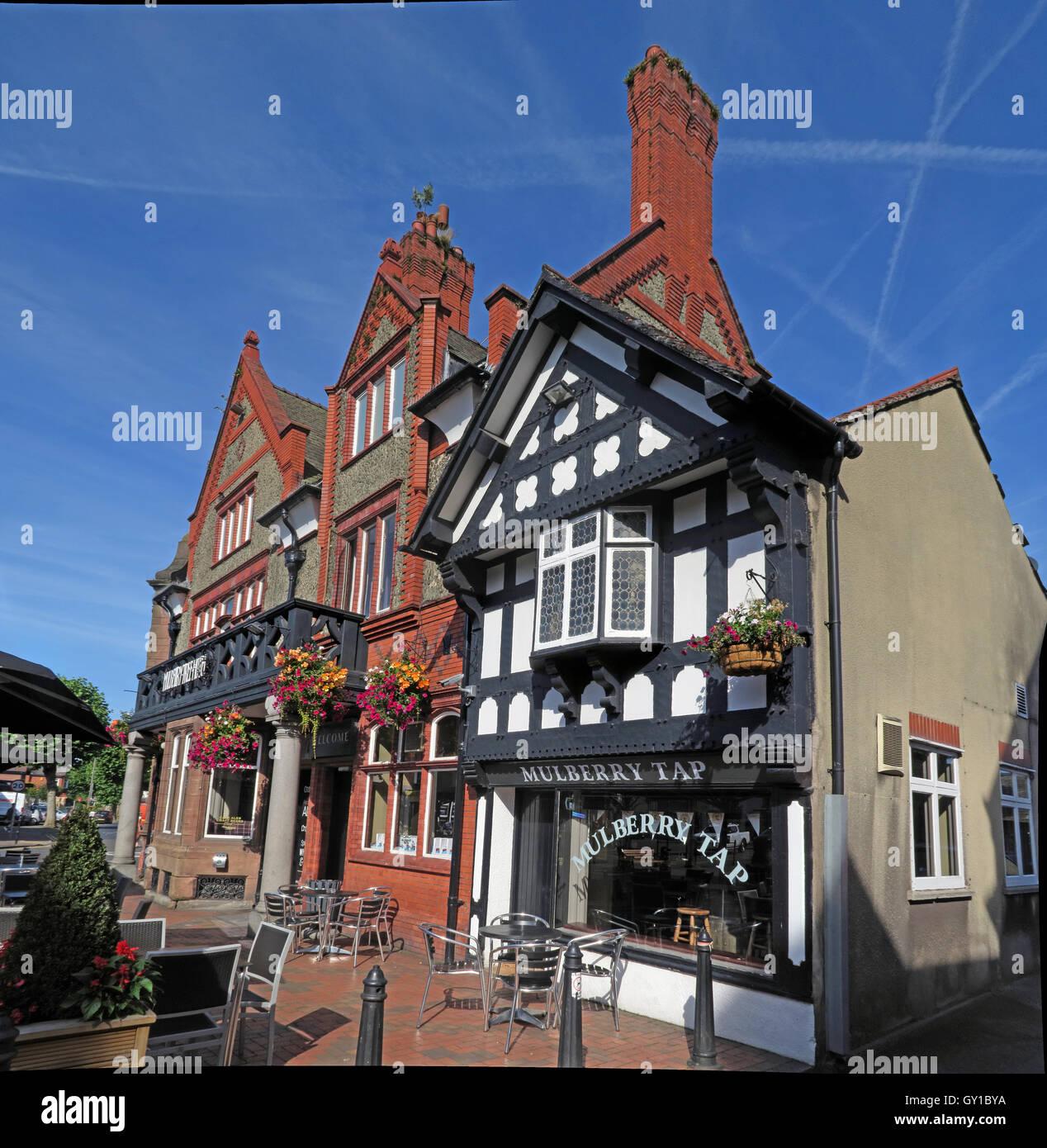 Mulberry Tree Pub,Stockton Heath,South Warrington,Cheshire,England,UK - Stock Image