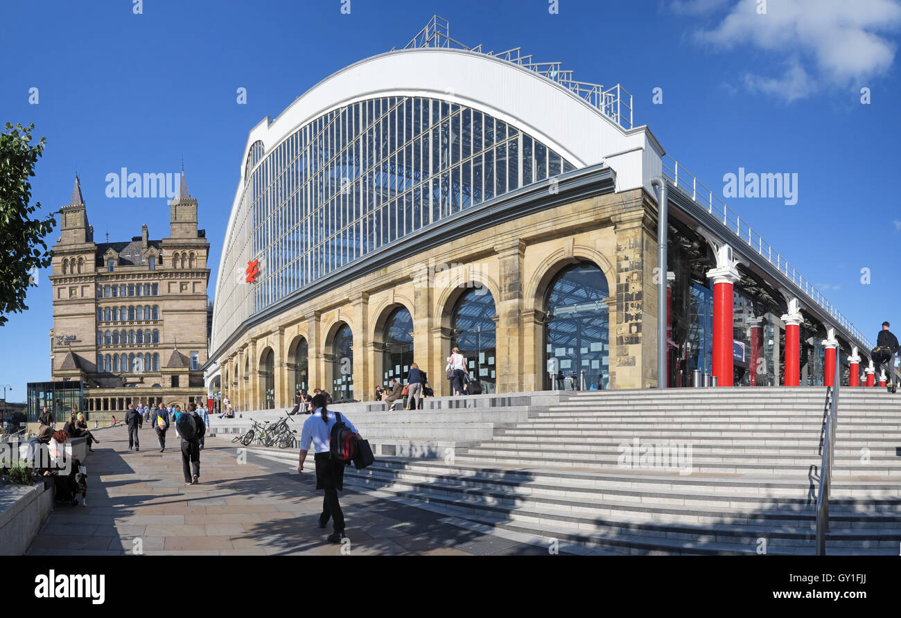 Liverpool Lime Street mainline railway station, - Stock Image