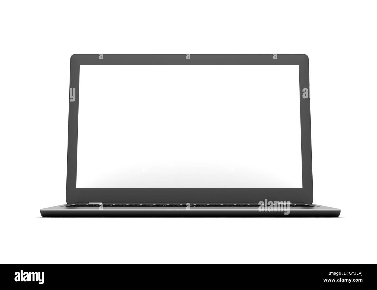 laptop computer concept  3d illustration - Stock Image