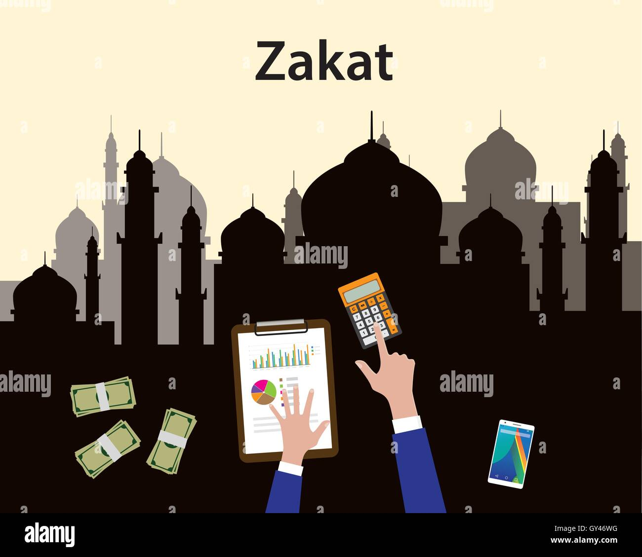 zakat concept moslem islam count counting money with hand view from stock vector image art alamy https www alamy com stock photo zakat concept moslem islam count counting money with hand view from 119951148 html