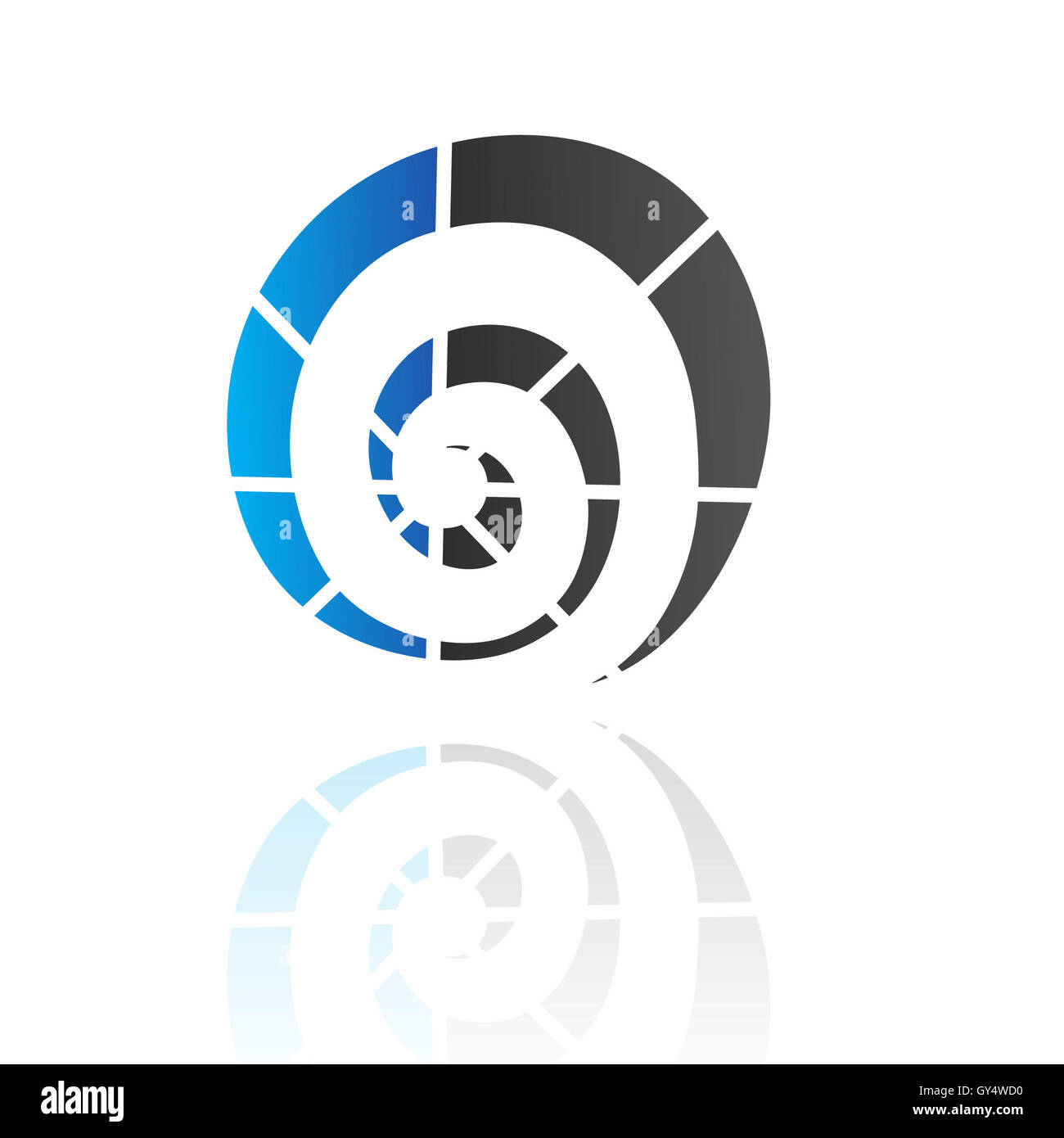 Abstract blue and black logo icon and design element - Stock Image