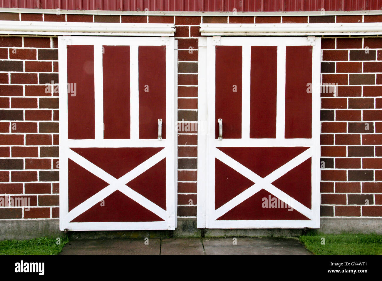 Old Wooden Barn Doors Make A Farm Background   Stock Image