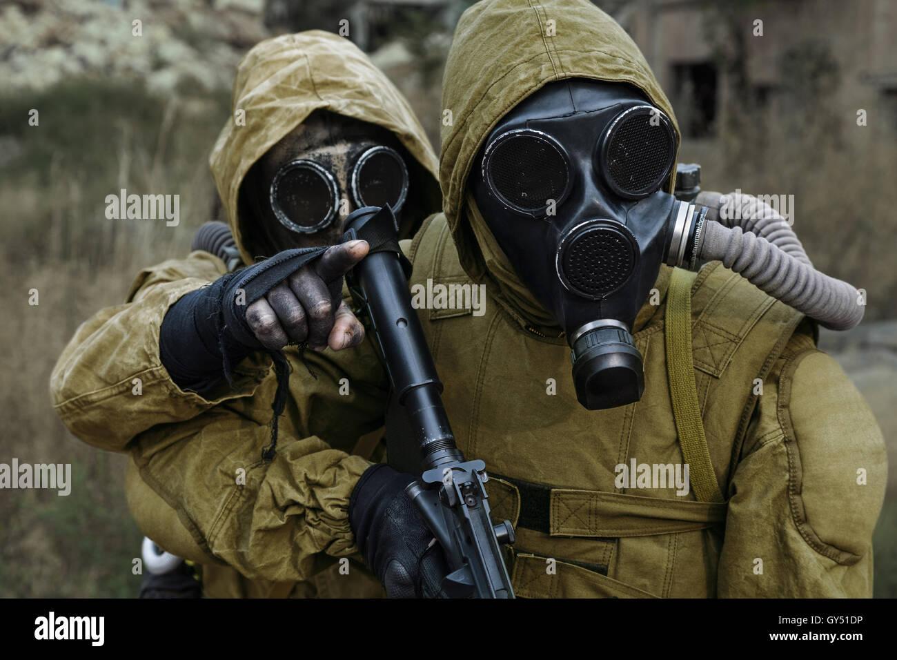 Post apocalypse survivors - Stock Image