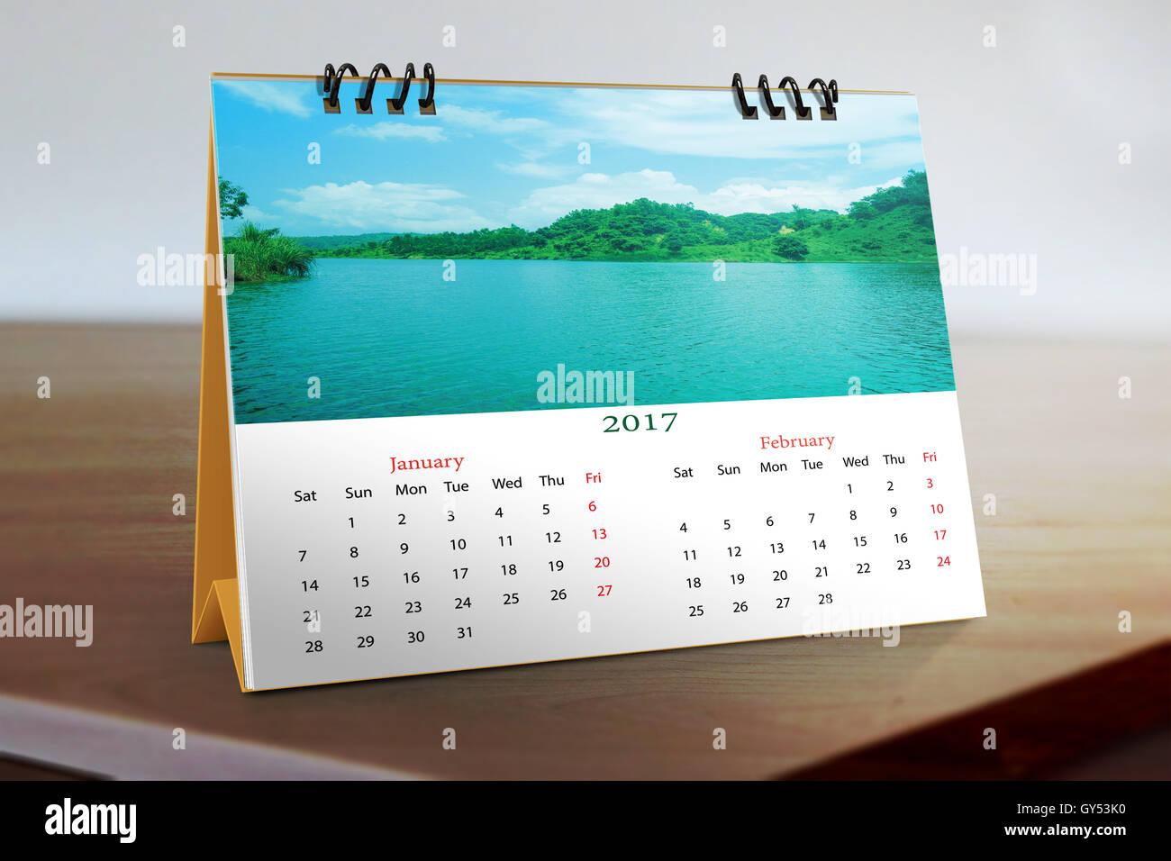 Calendar Design Desktop : Desktop calendar design stock photo  alamy