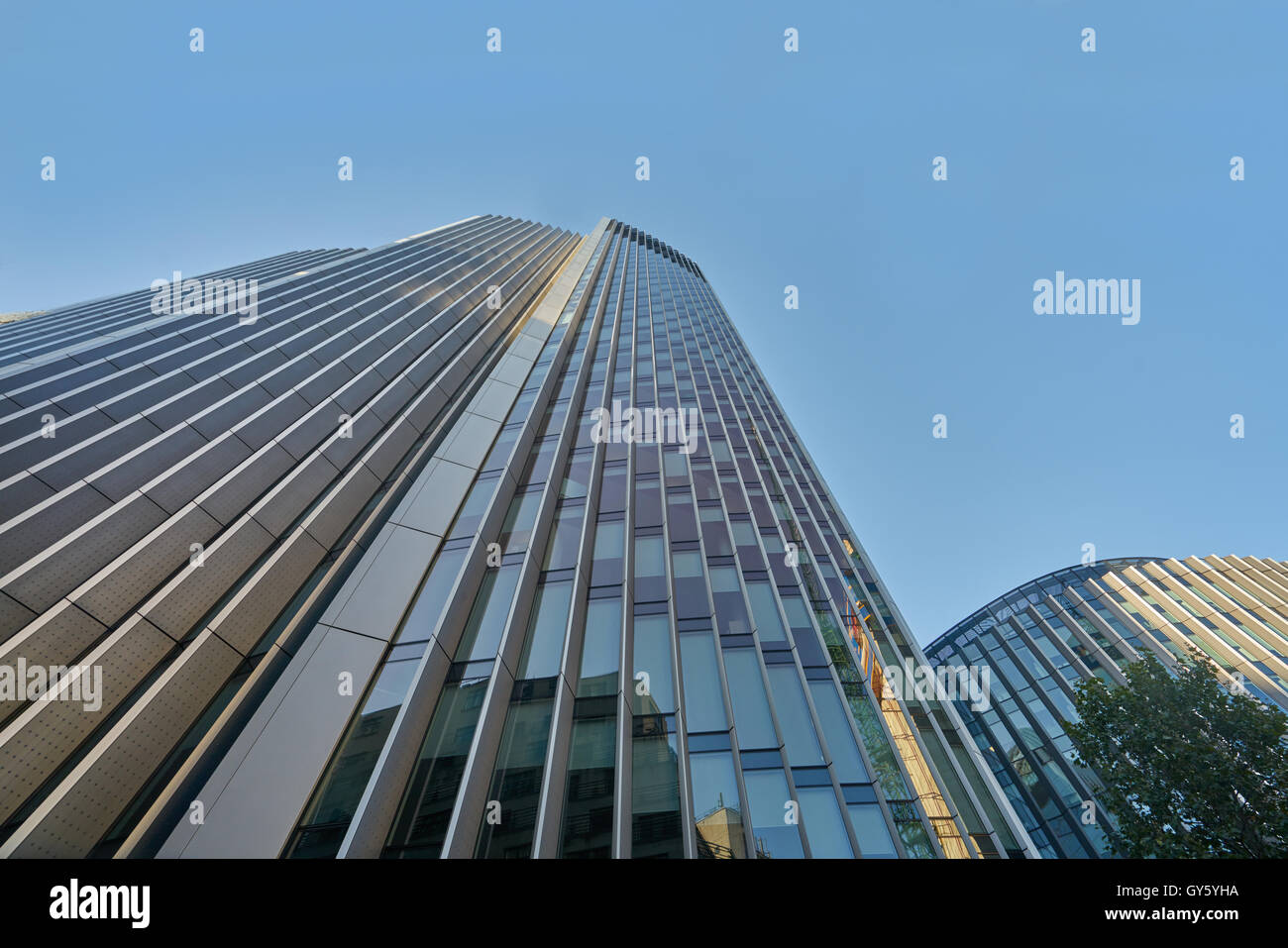 tall buildings, city of London. Glass buldings - Stock Image