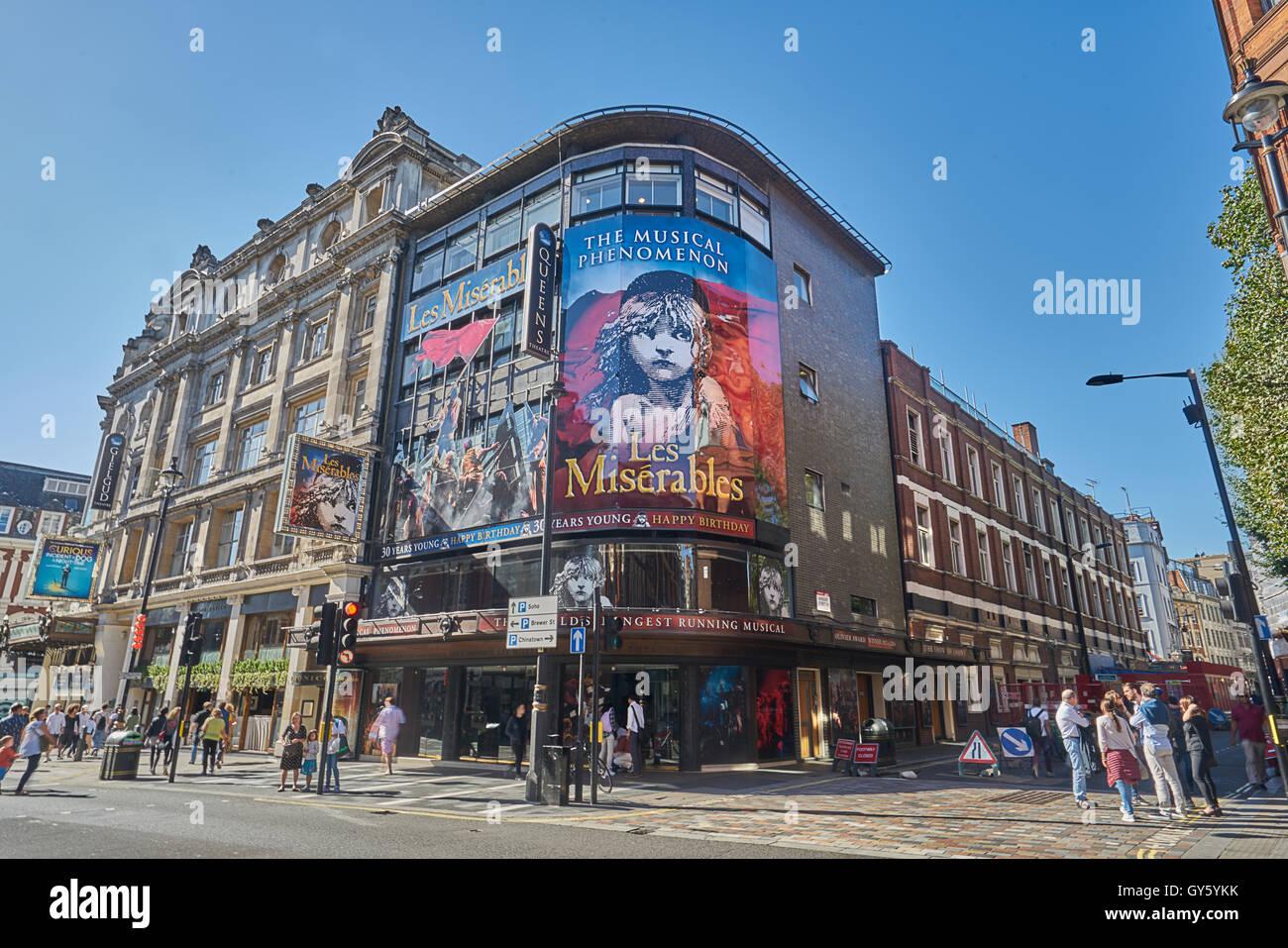 Les Miserables  theatre, London - Stock Image