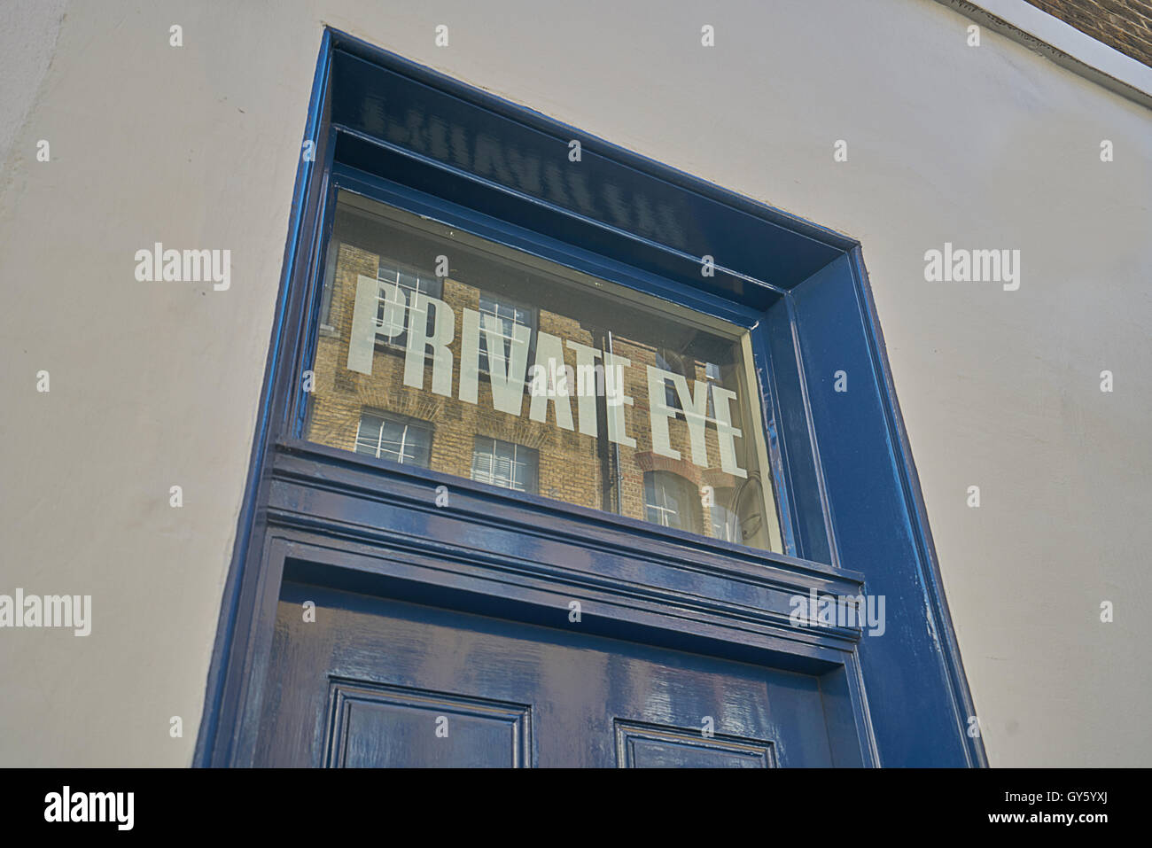 private eye offices,  London - Stock Image