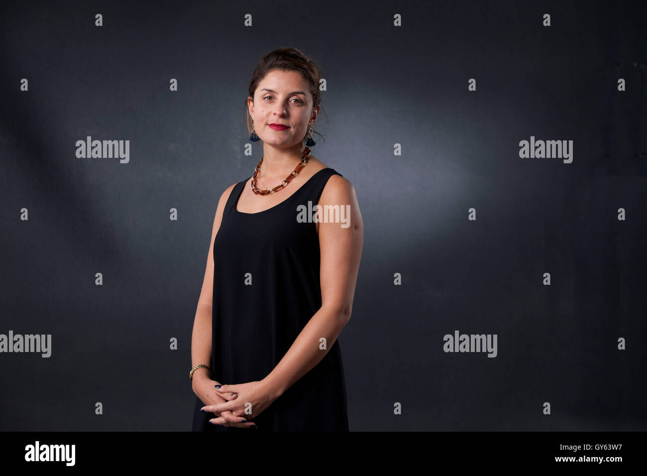 Jessie Burton, the English author and actress, at the Edinburgh International Book Festival. Edinburgh, Scotland. - Stock Image