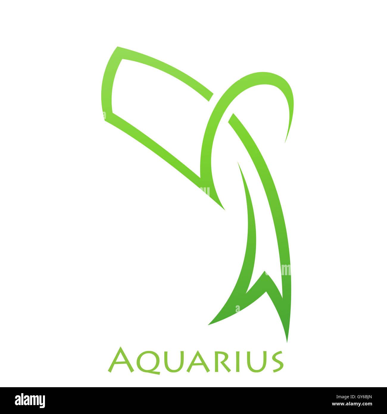 Aquarius Symbol Zodiac Sign Illustration Horoscope Stock Photos