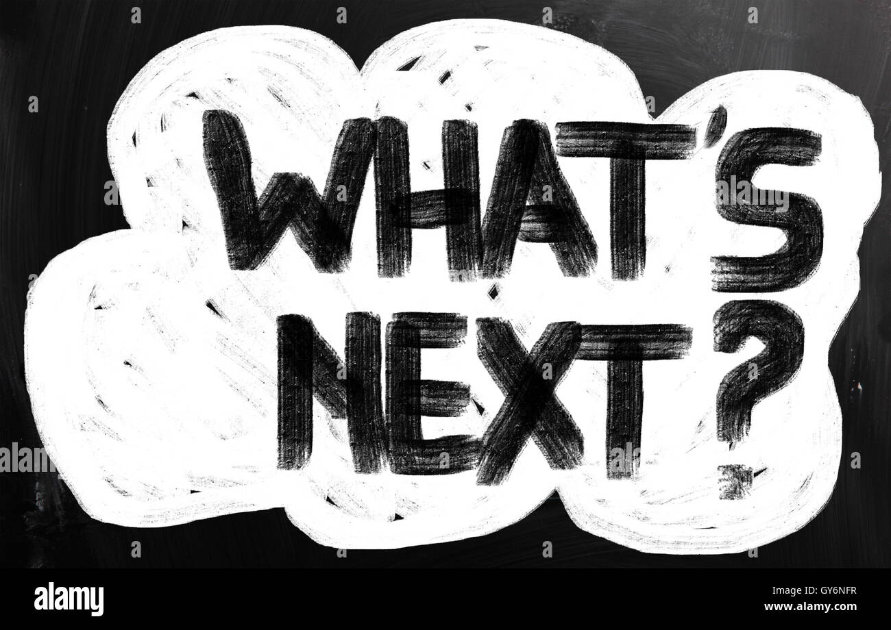 What's Next Concept - Stock Image