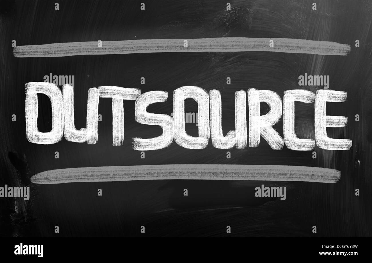 Outsourcing Concept - Stock Image
