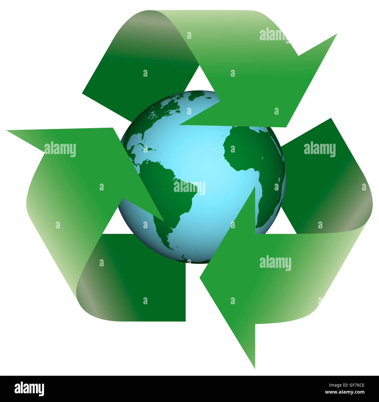 Recycling Earth - Stock Image