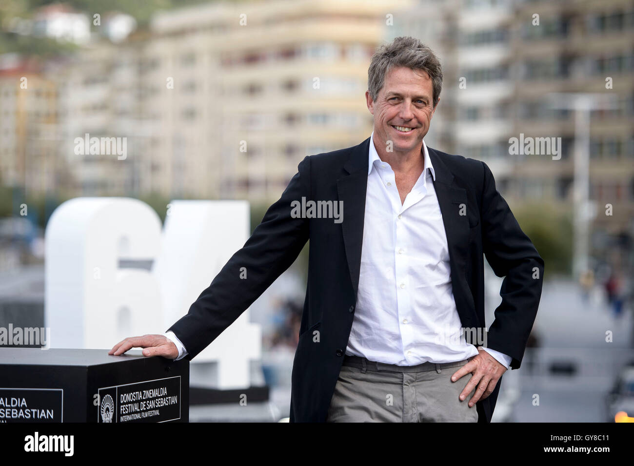 San Sebastian, Spain. 18th Sept, 2016. Actor Hugh Grant at photocall of 'Florence Foster Jenkins' during - Stock Image