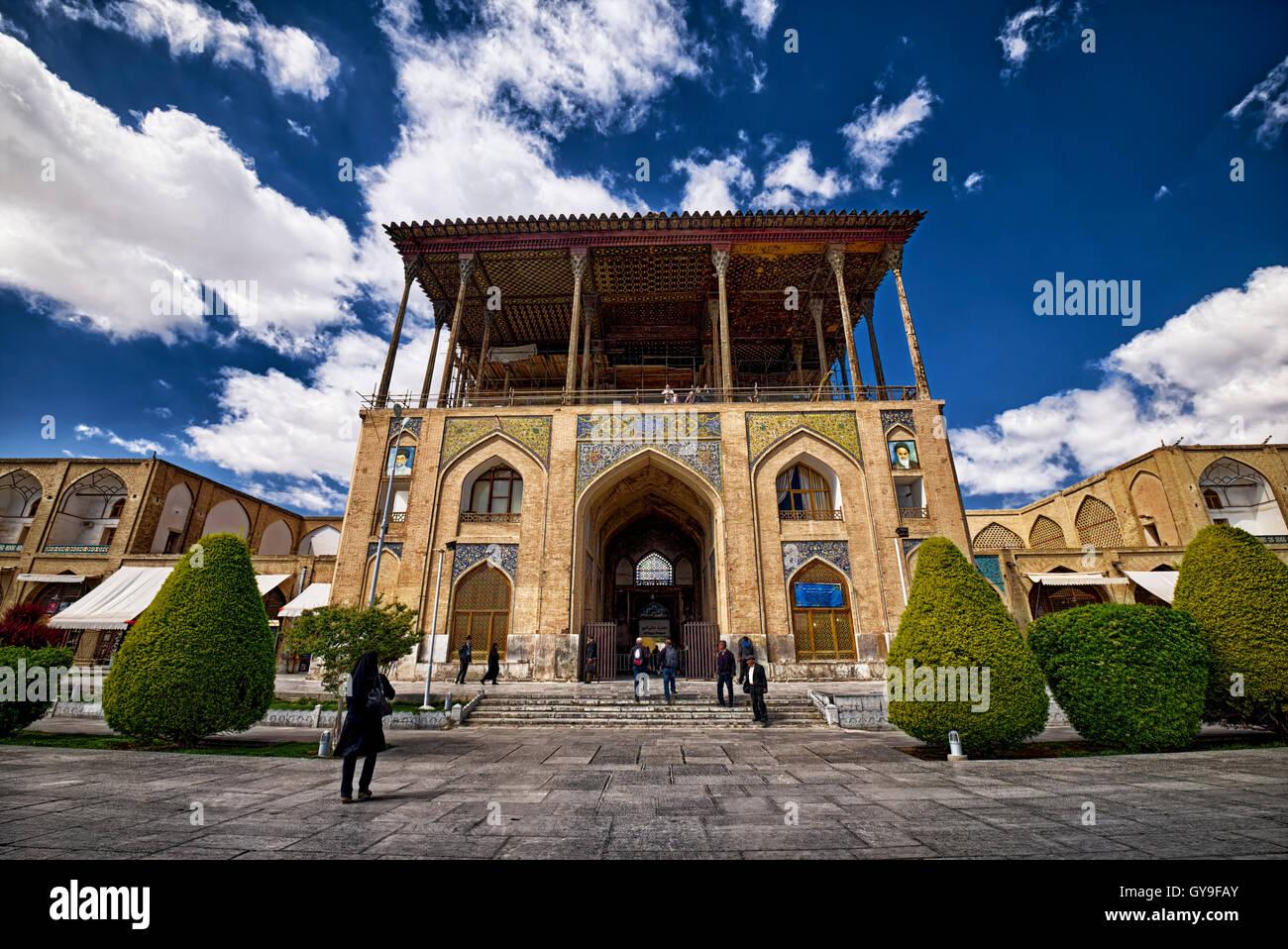 Ali Qapu palace front view Stock Photo