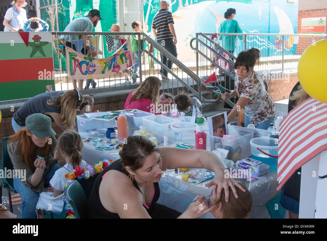 fd20de1f9 Face painting for small children at a Sydney school fete open day,new south  wales