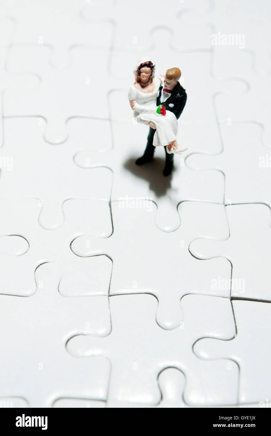 marriage problems and challenges concept - Stock Image