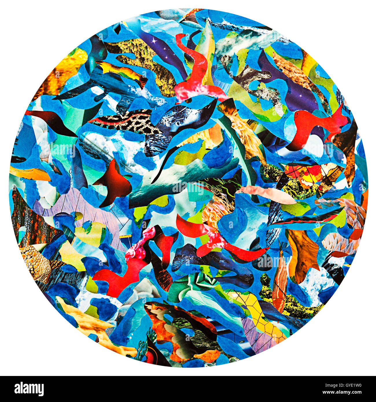 abstract circle collage - Stock Image