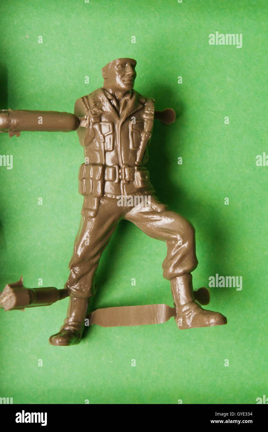 plastic soldier sprue - Stock Image