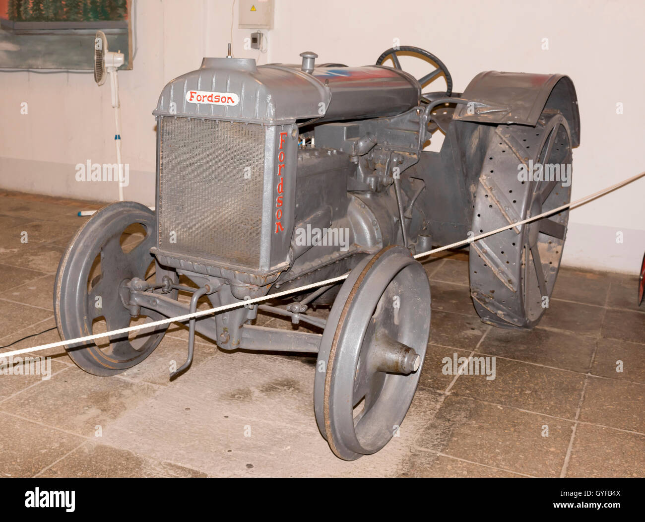 Moscow, Russia -September 04,2016: Tractor Fordson (1913) in 'Mosfilm' Museum - Stock Image