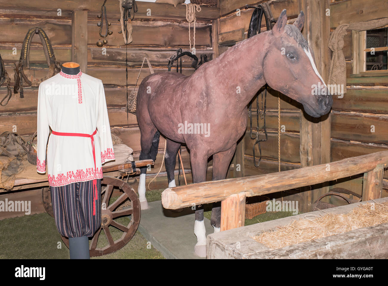Moscow, Russia -September 04,2016: Decorations for the feature film in 'Mosfilm' Museum - Stock Image
