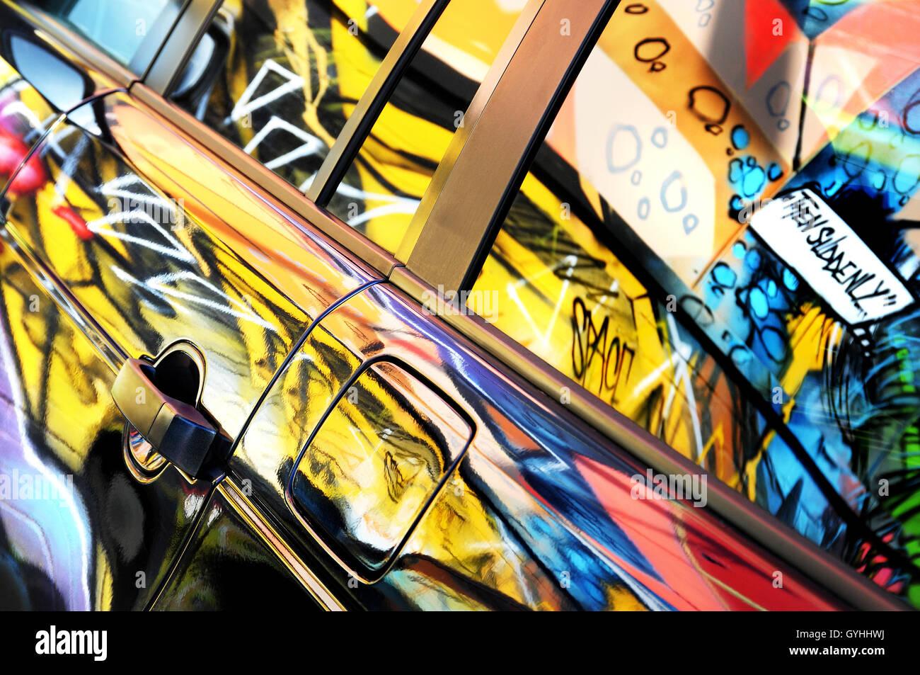 Car Graffiti Art Reflection Stock Photos & Car Graffiti Art ...