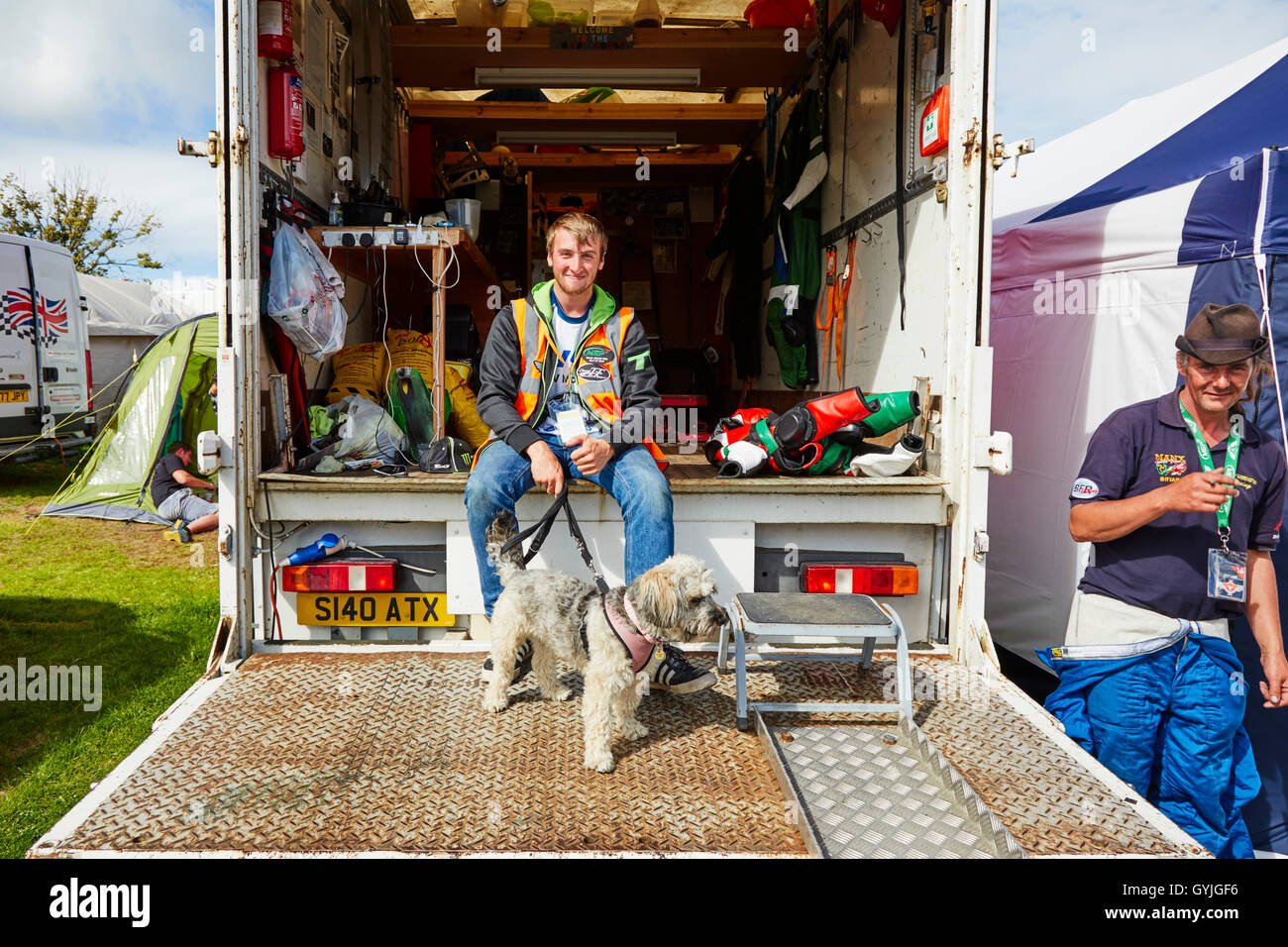 MGP truck with dog - Stock Image