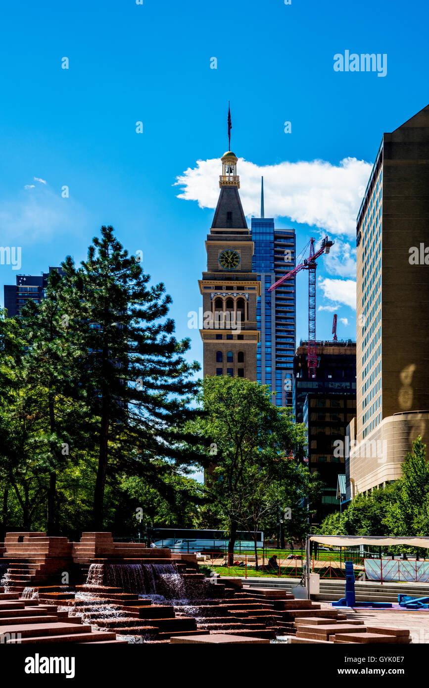 Historic Daniels and Fisher Tower in Denver - Stock Image