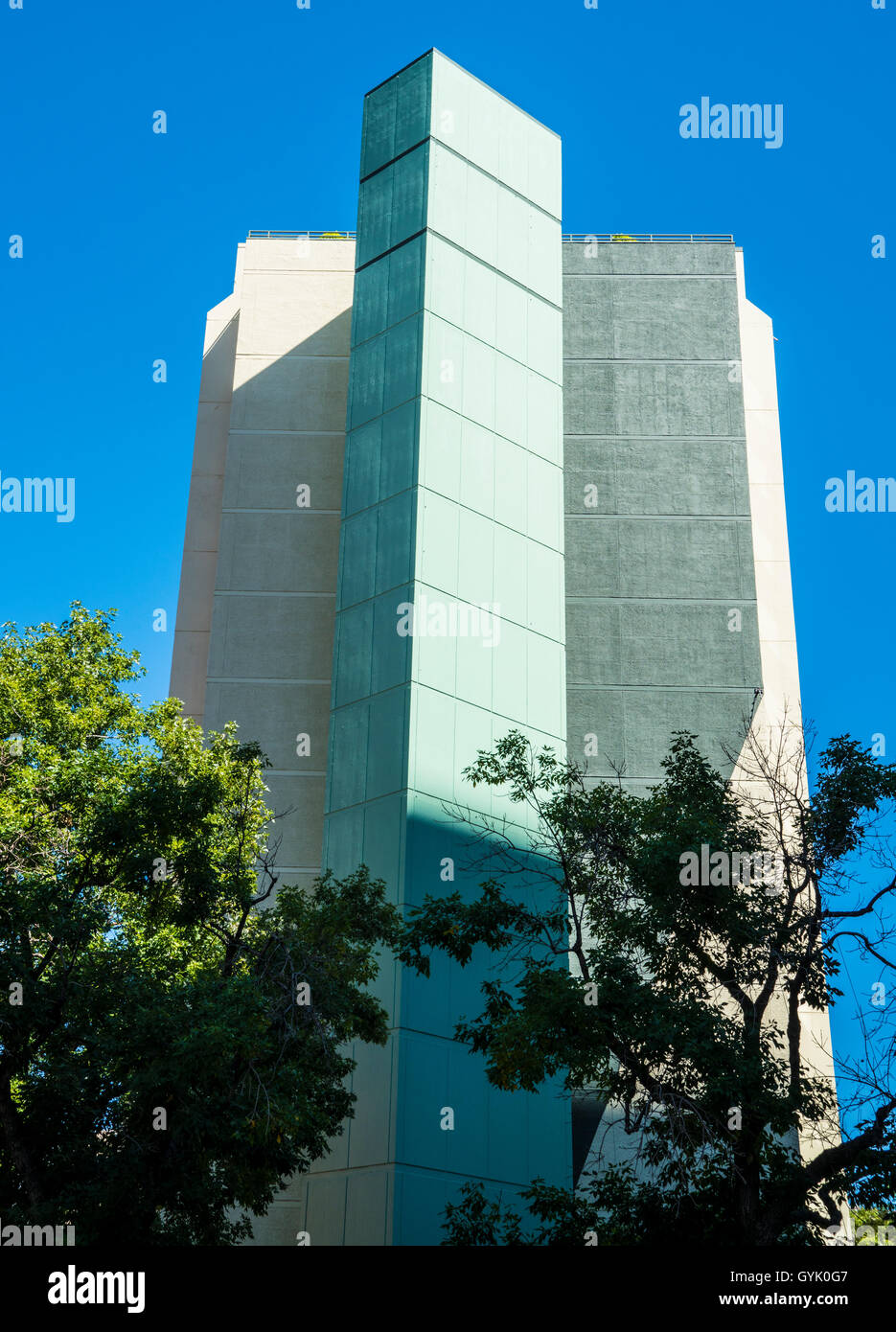 white condominium and office building - Stock Image