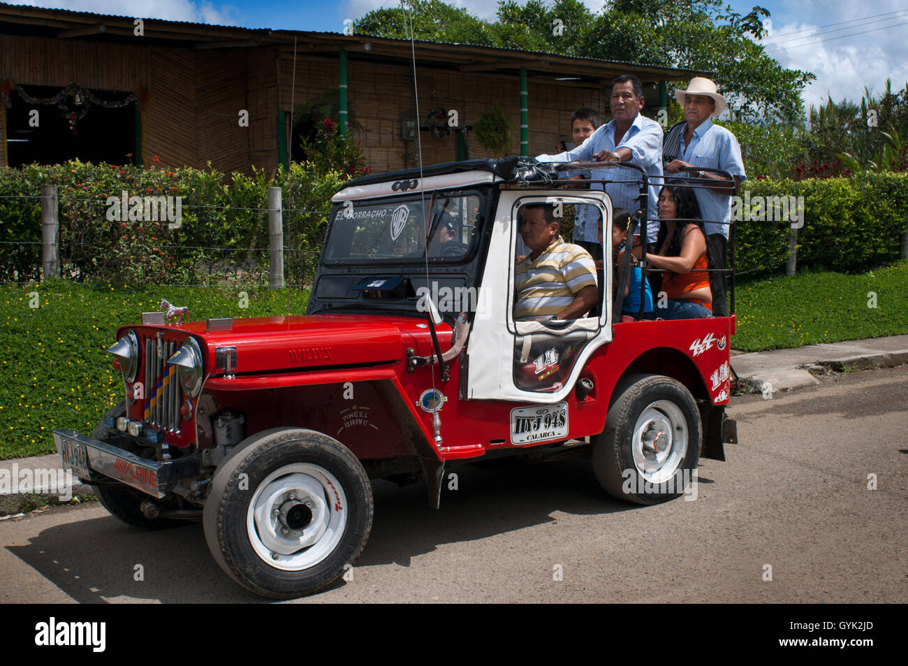 Willys Jeeps Stock Photos Images Alamy On Filter Box Are Tipycal In The Area Salento Filandia And Cocora Valley