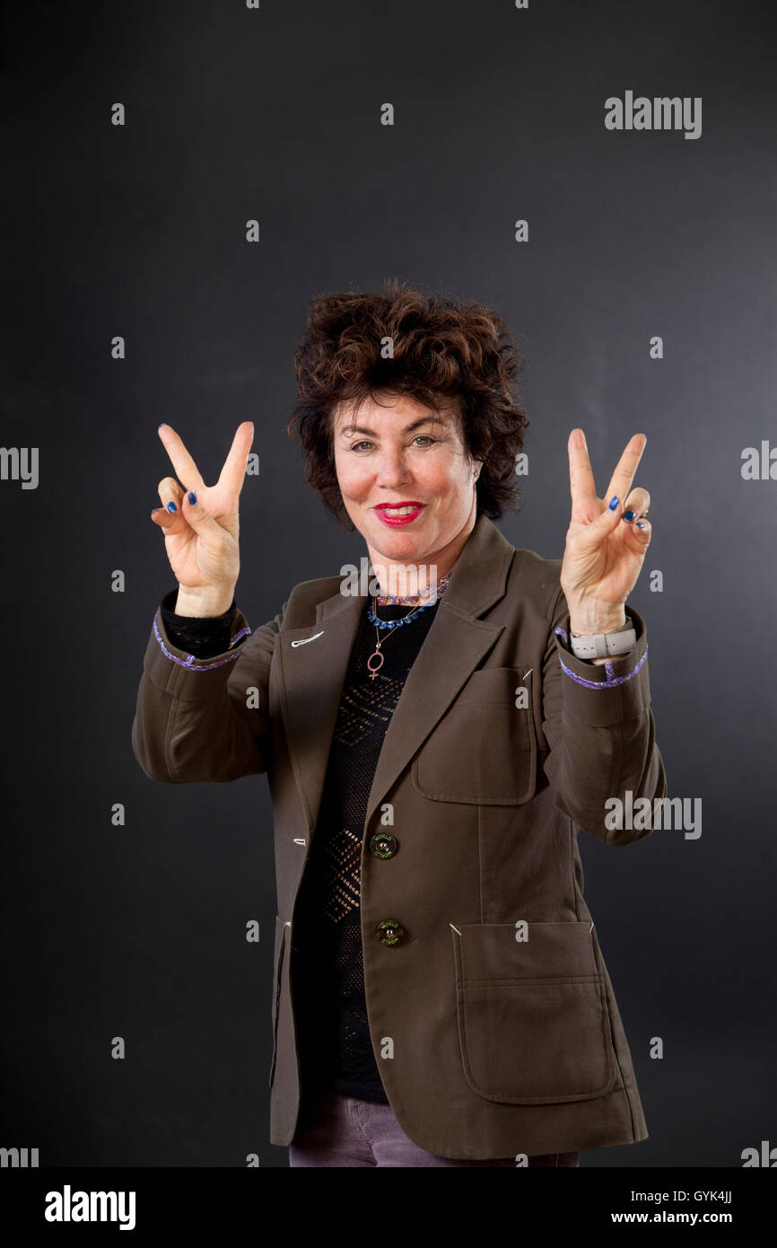 Ruby Wax, OBE is an American actress, mental health campaigner, lecturer, and author, at the Edinburgh International - Stock Image