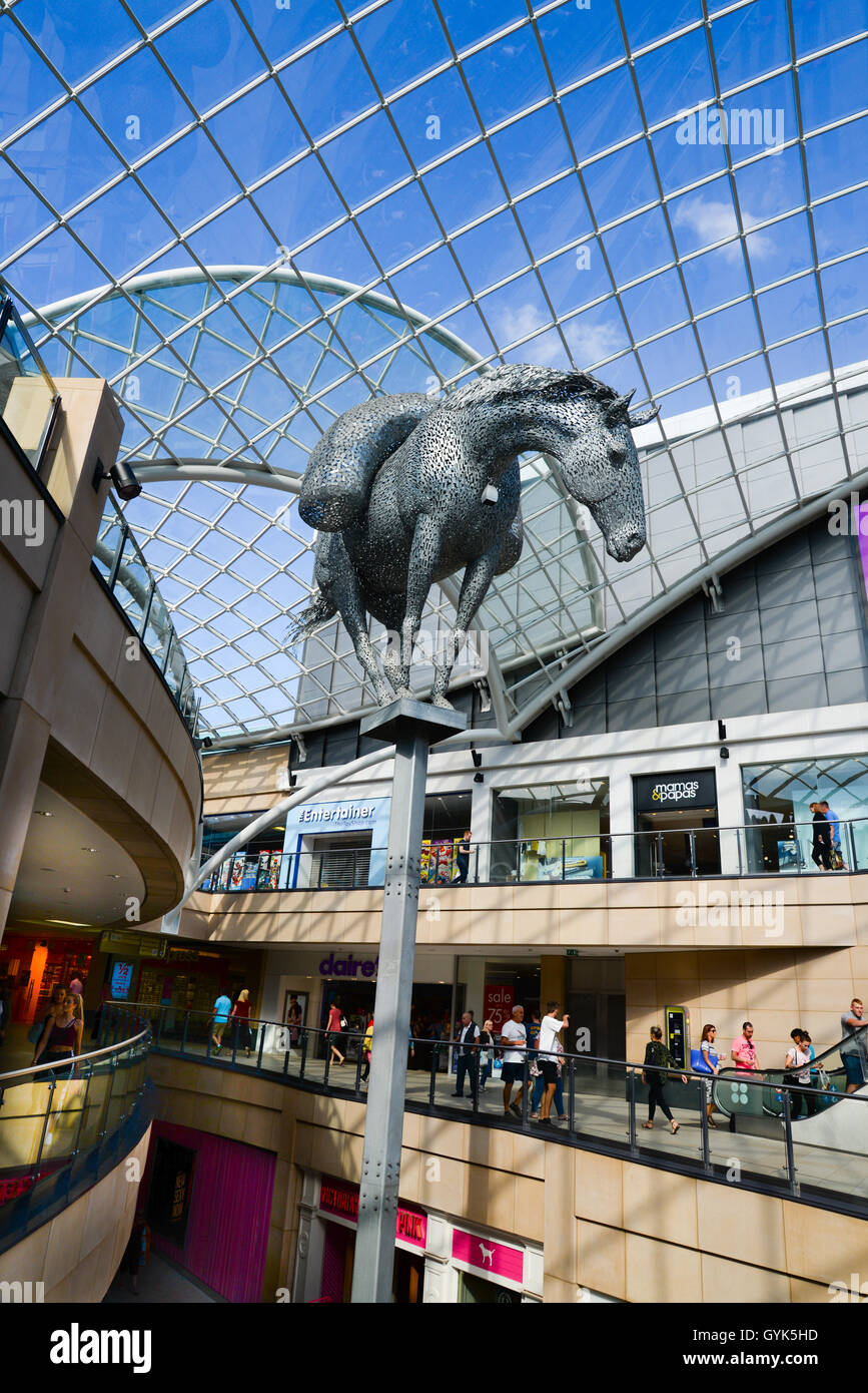 Trinity Leeds is the city's newest and biggest shopping and leisure destination with over 120 shops, cafes, bars - Stock Image
