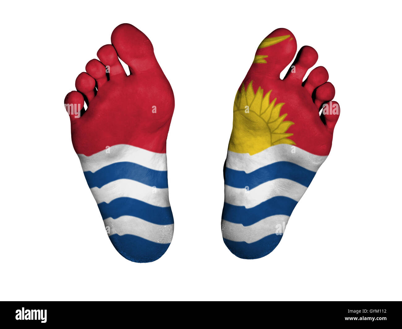Feet with flag - Stock Image
