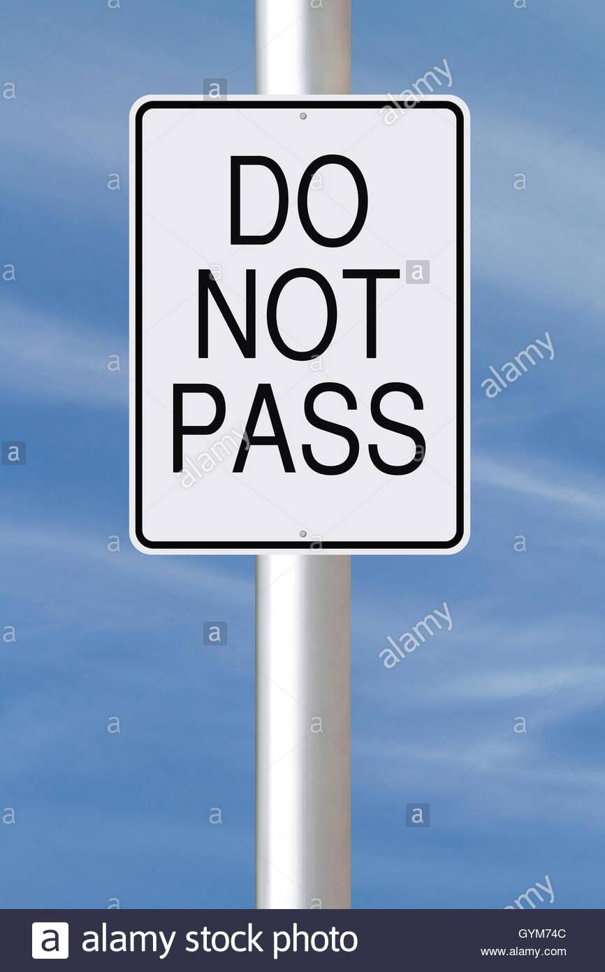Do Not Pass - Stock Image