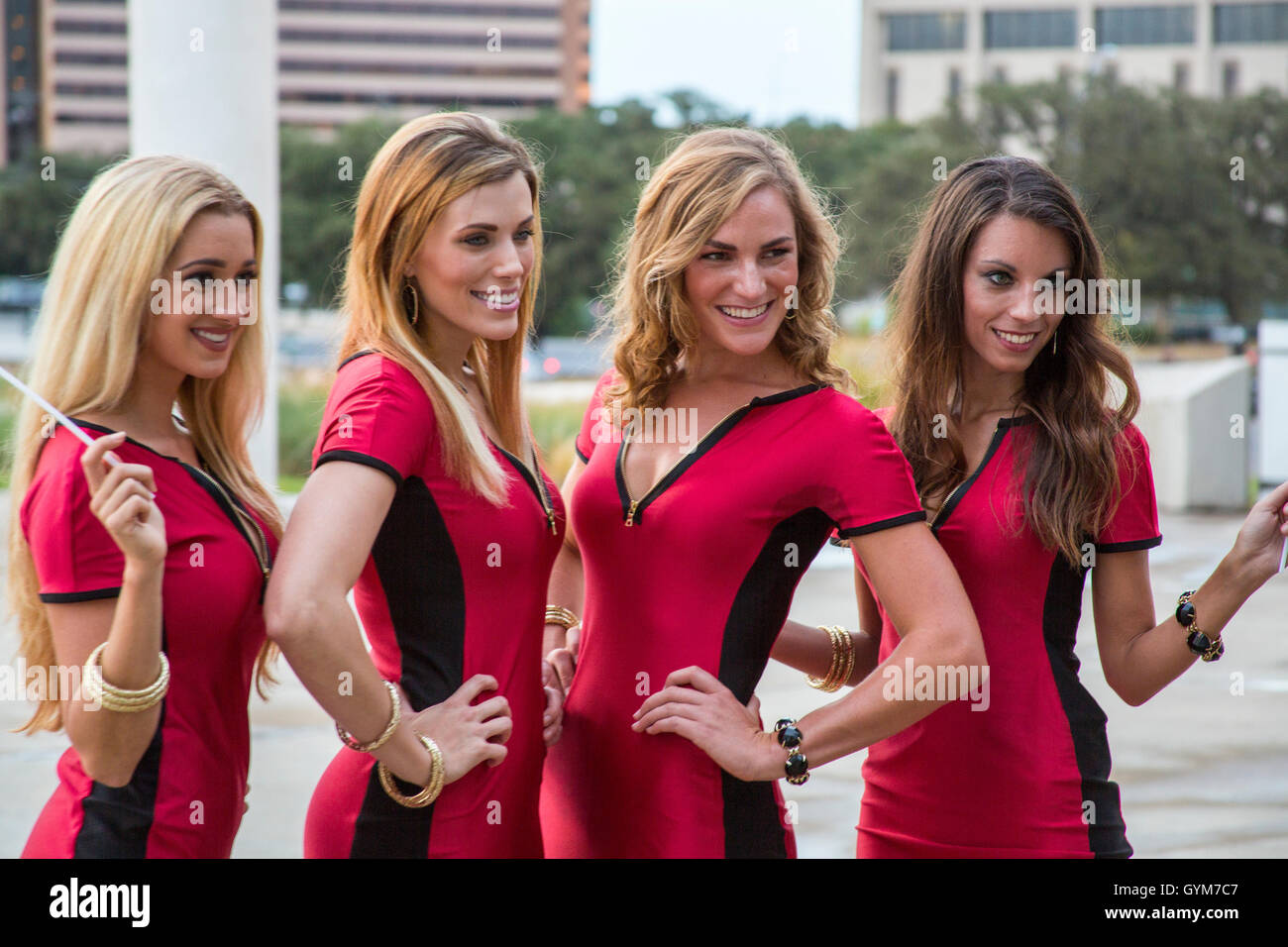Circuit of the Americas Girls at an event in Austin, Texas Stock Photo