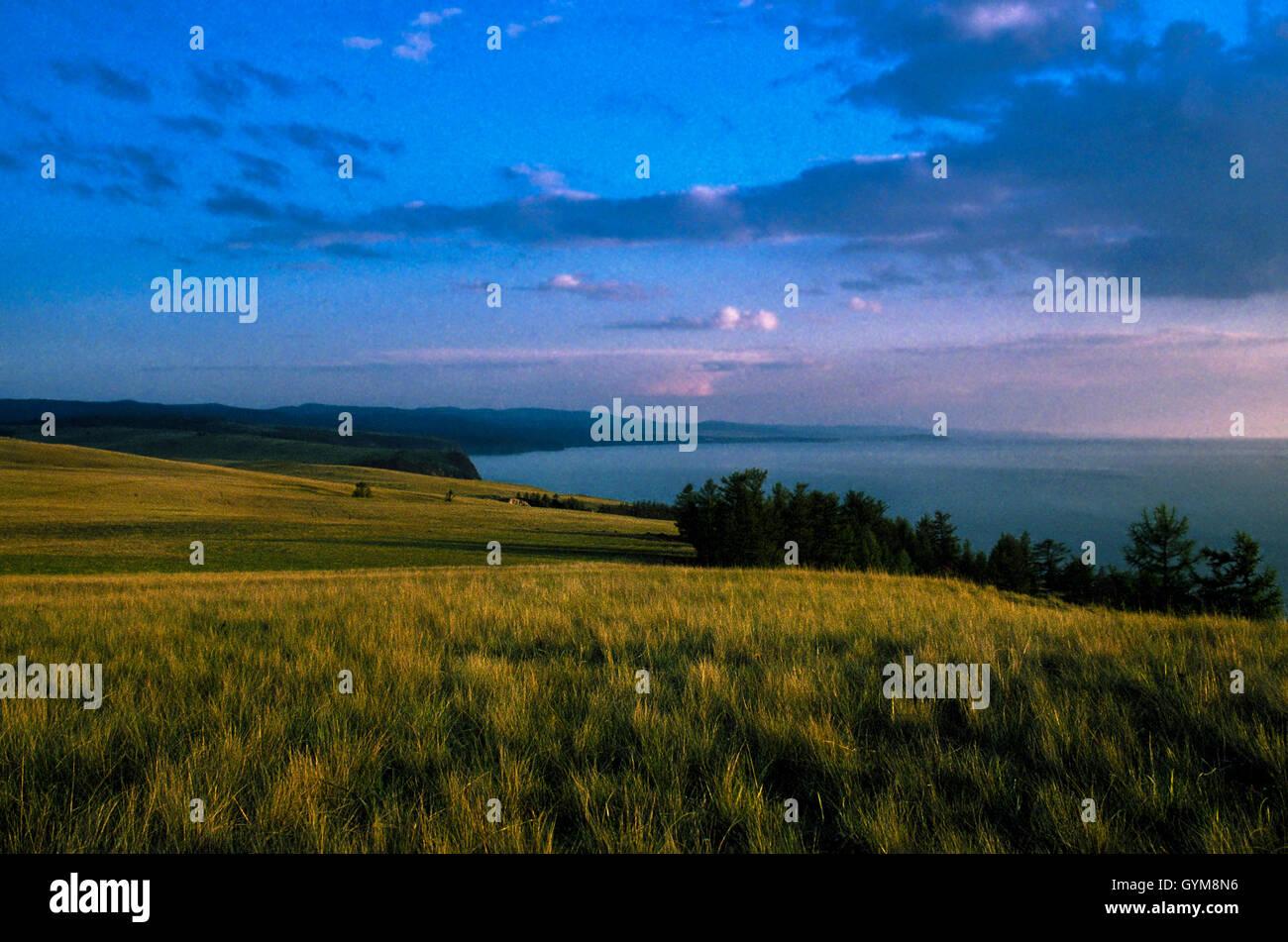 Lake Baikal, Siberia, Russia; Olkhon Island, Pribaikalski National Park - Stock Image