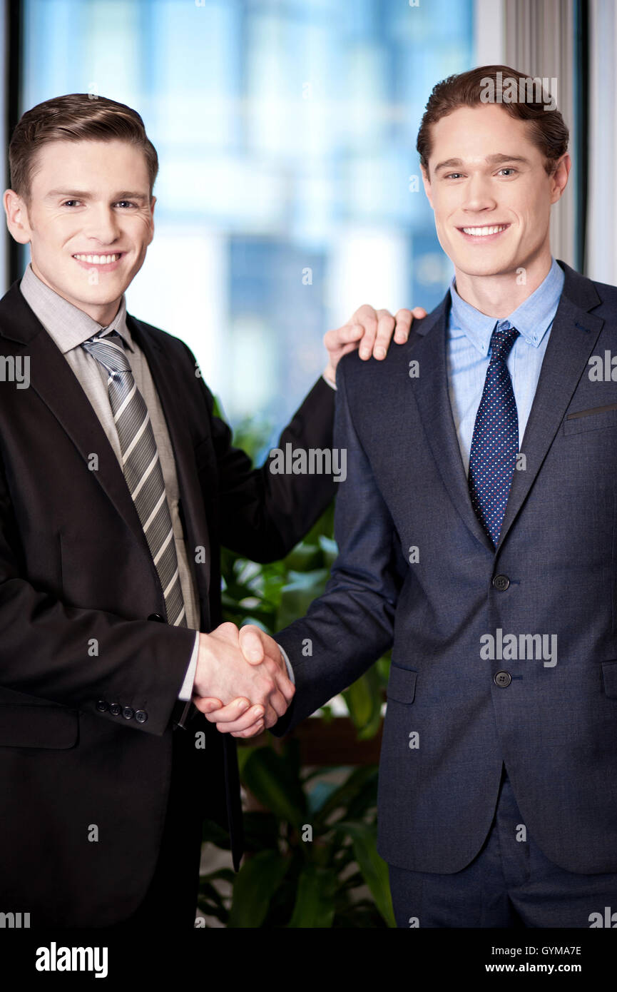 The deal has been finalized. Stock Photo