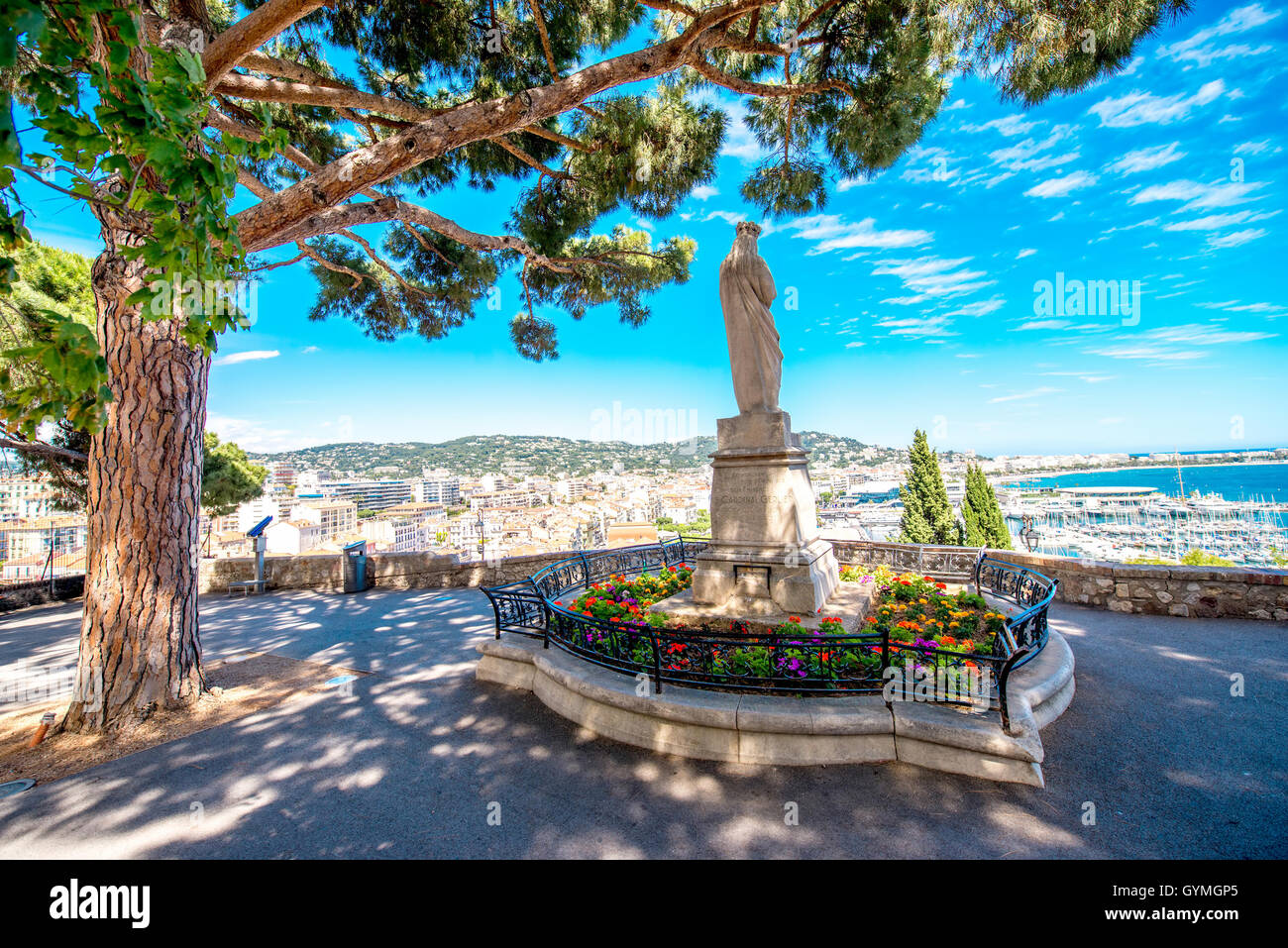 Park in Cannes city - Stock Image
