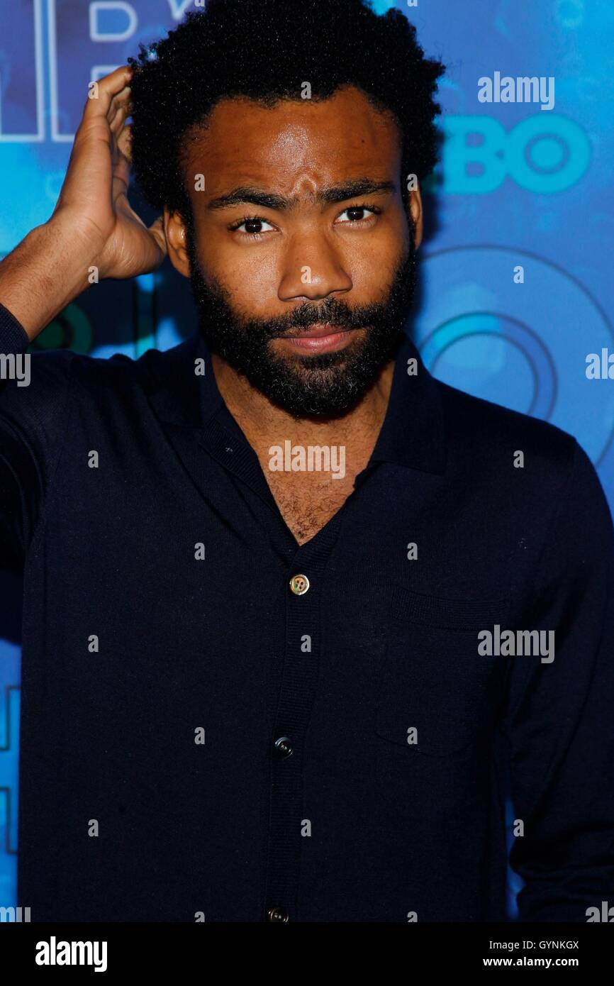 Los Angeles, CA, USA. 18th Sep, 2016. Donald Glover at arrivals for HBO's Post-Emmy Awards Party, The Plaza - Stock Image