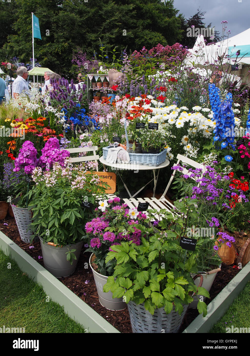 Garden Furniture Cheshire Mixed display with ornamental garden furniture part of the floral mixed display with ornamental garden furniture part of the floral display at rhs tatton park in 2016 in knutsford cheshire workwithnaturefo