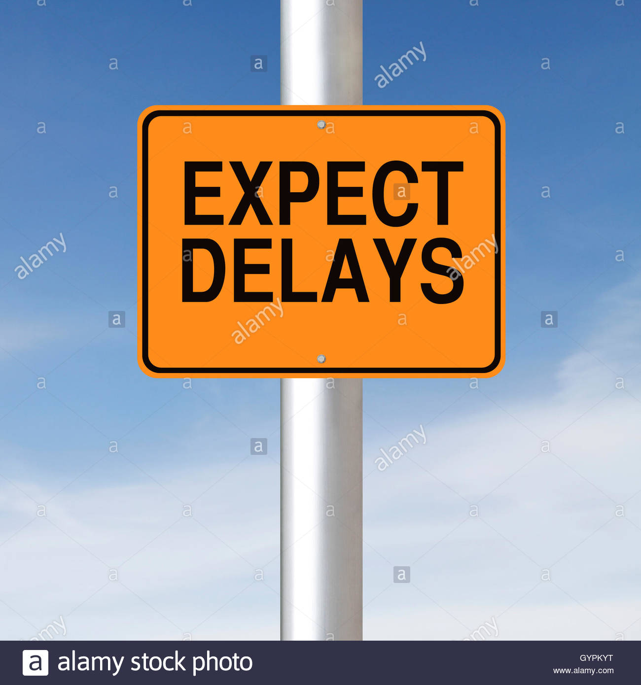 Expect Delays - Stock Image