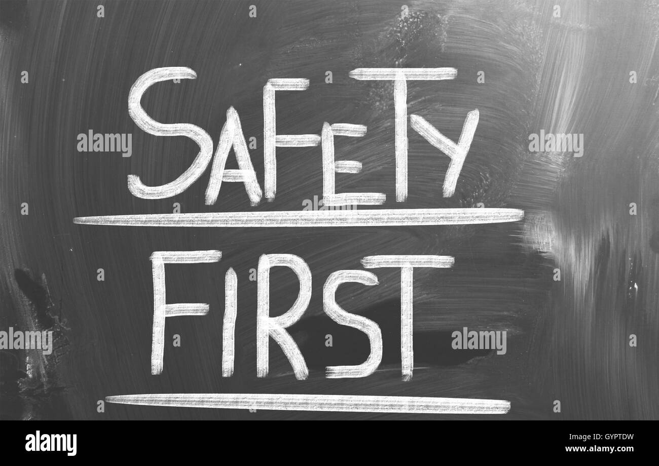 Safety First Concept - Stock Image