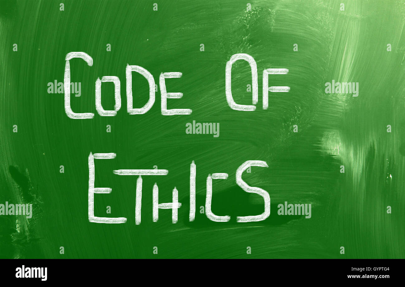 Code Of Ethics Concept - Stock Image