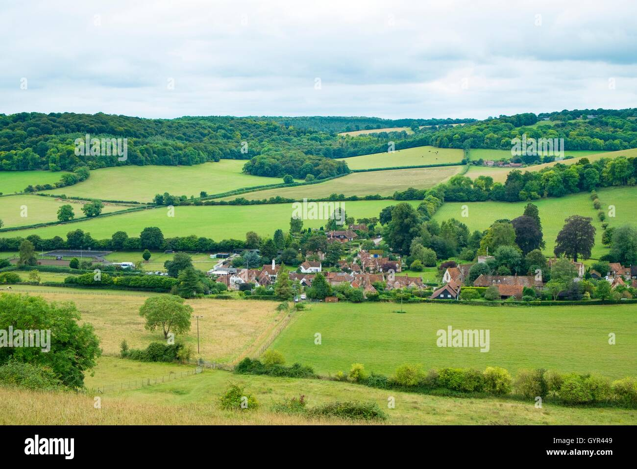 Turville Village, Hambleton Valley, The Chilterns, Buckinghamshire. - Stock Image