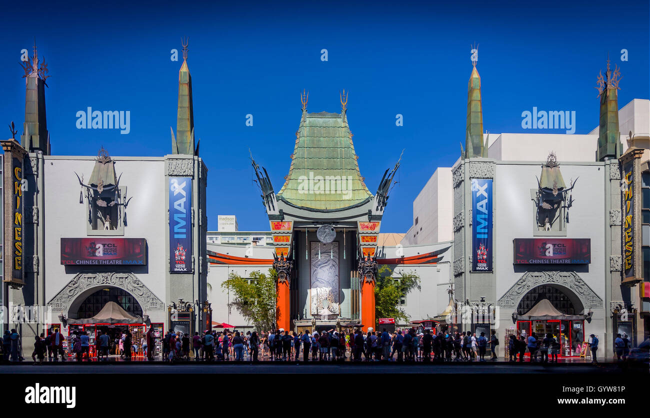 Grauman's Chinese Theater, Hollywood Blvd, Los Angeles, California, USA - Stock Image