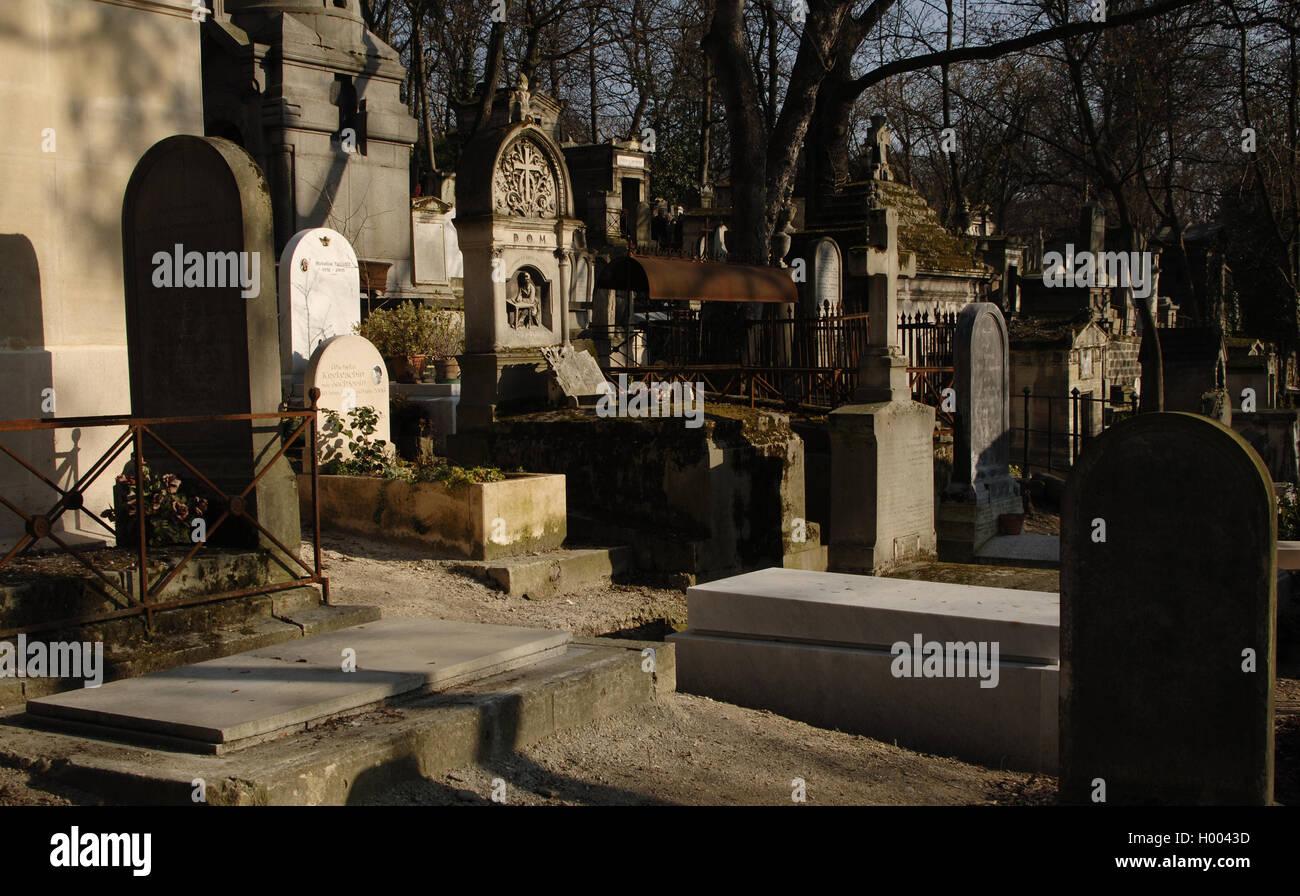 Pere Lachaise Cemetery. Paris. France. - Stock Image